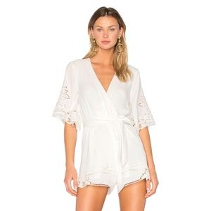 NEW Lovers + Friends Brixton Romper White F45